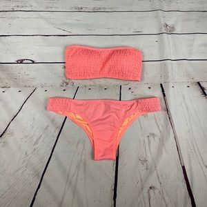 VS Coral Scrunch Bikini Set